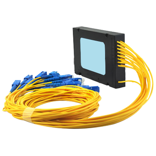 1×16 Optical PLC Splitter  Single mode cable with SC/UPC connectors
