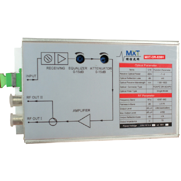 MXT-OR-838H FTTH CATV Receiver